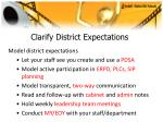 clarify district expectations44
