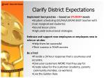 clarify district expectations45