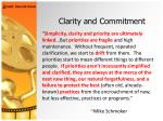 clarity and commitment39