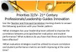 priorities ii iv 21 st century professionals leadership guides innovation22
