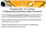 priorities ii iv 21 st century professionals leadership guides innovation23