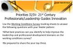 priorities ii iv 21 st century professionals leadership guides innovation24