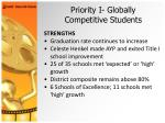 priority i globally competitive students