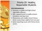 priority iii healthy responsible students26