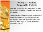 priority iii healthy responsible students28