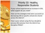 priority iii healthy responsible students29