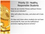 priority iii healthy responsible students30