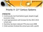 priority v 21 st century systems