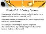 priority v 21 st century systems35