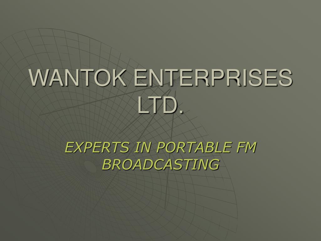 wantok enterprises ltd l.