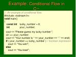 example conditional flow in c