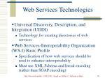 web services technologies76