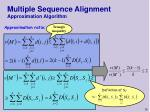 multiple sequence alignment approximation algorithm16