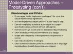 model driven approaches prototyping con t