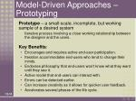 model driven approaches prototyping