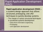rapid application development rad