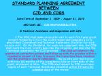 standard planning agreement between cjd and cogs