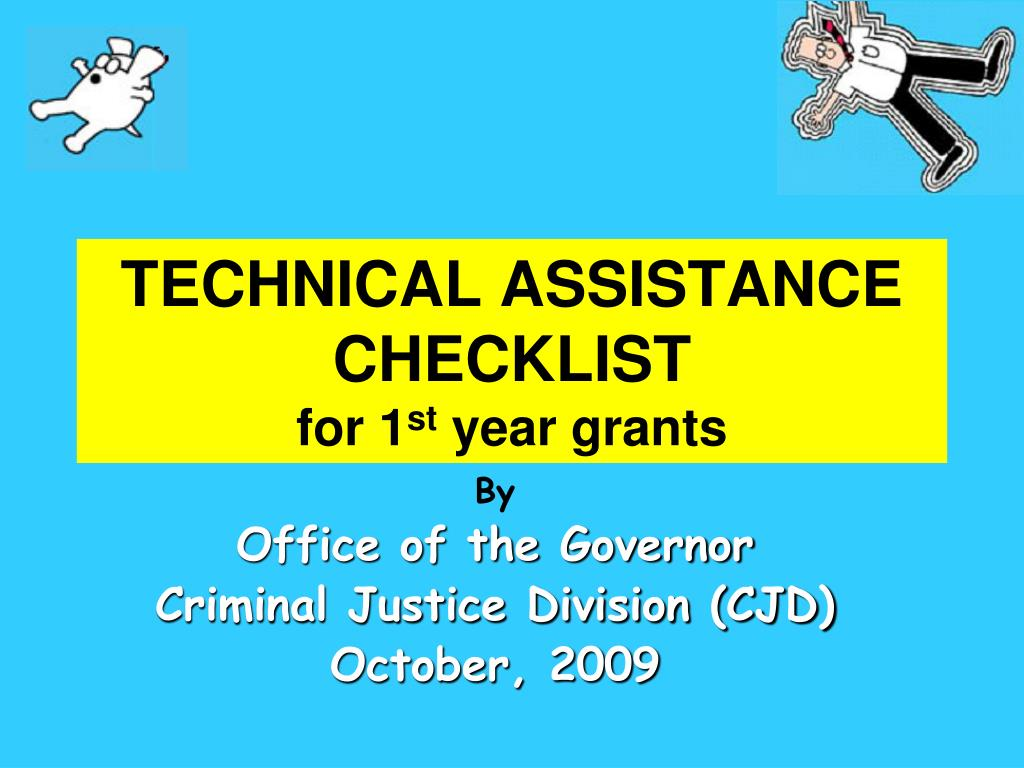 technical assistance checklist for 1 st year grants l.