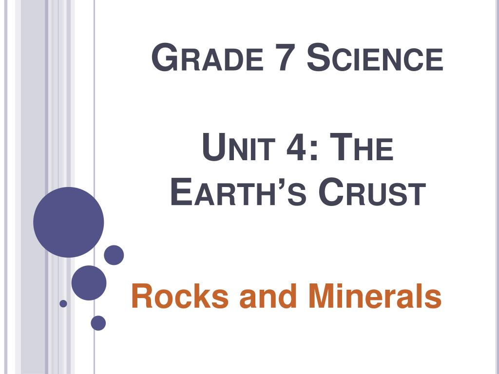 grade 7 science unit 4 the earth s crust l.