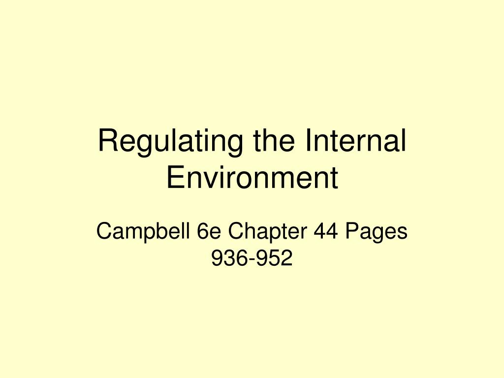 regulating the internal environment l.