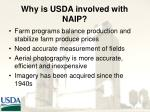why is usda involved with naip