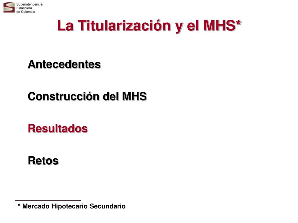 La Titularización y el MHS*
