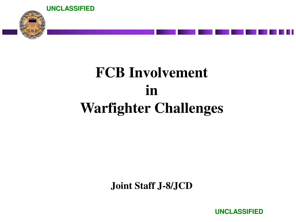 fcb involvement in warfighter challenges l.
