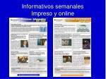 informativos semanales impreso y online