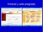 intranet y web pregrado