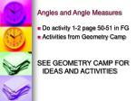 angles and angle measures