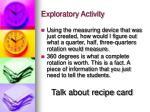 exploratory activity