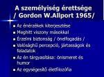 a szem lyis g retts ge gordon w allport 1965