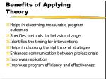 benefits of applying theory