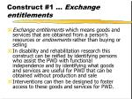 construct 1 exchange entitlements