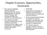 chapter 6 lessons opportunities constraints