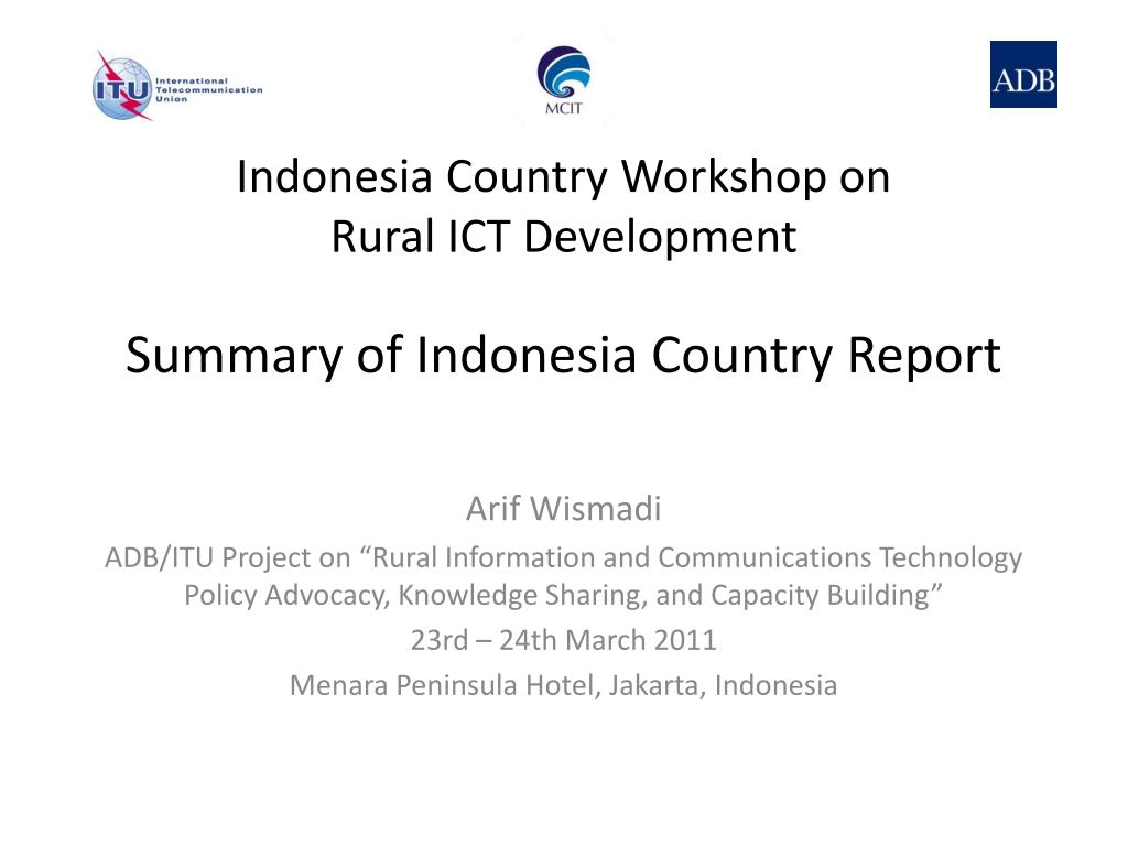 summary of indonesia country report l.