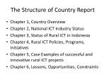 the structure of country report
