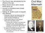 civil war aftermath