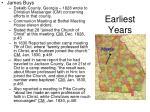 earliest years3