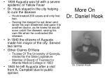 more on dr daniel hook