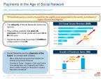 payments in the age of social network