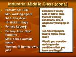 industrial middle class cont