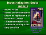 industrialization social impacts