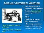 samuel crompton weaving