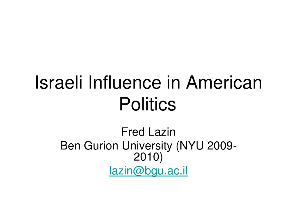 israeli influence in american politics l.
