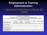 employment training administration13