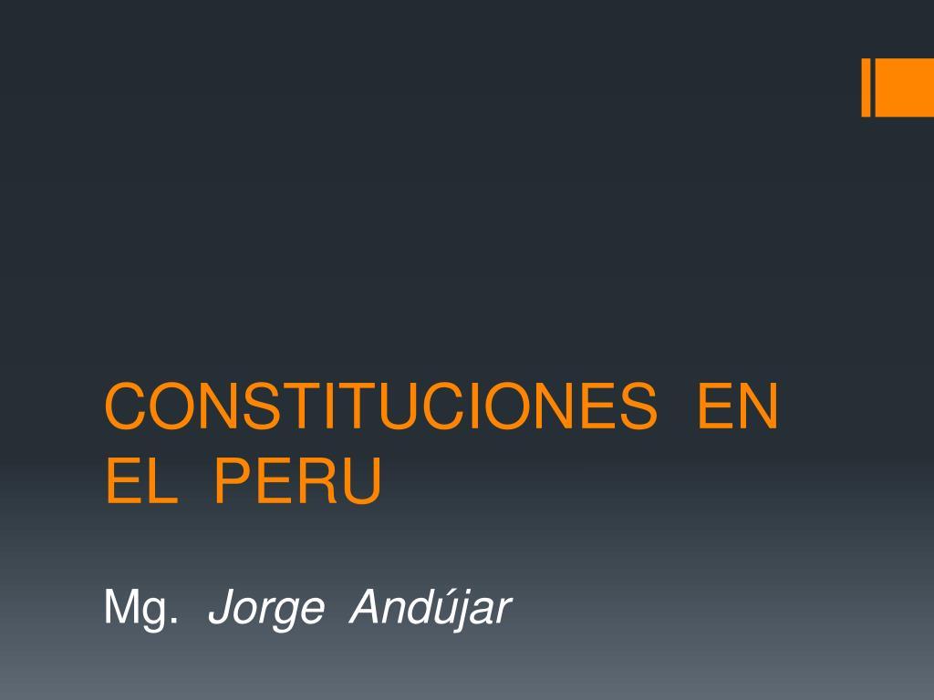 constituciones en el peru l.