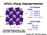 cafeo 3 charge disproportionation