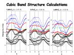 cubic band structure calculations