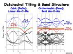 octahedral tilting band structure